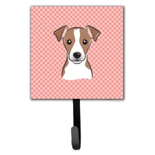 Checkerboard Jack Russell Terrier Leash Holder and Wall Hook by Caroline's Treasures