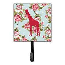 Giraffe Shabby Elegance Roses Leash Holder and Wall Hook by Caroline's Treasures