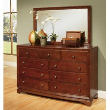 Basche 9 Drawer Dresser with Mirror by Darby Home Co