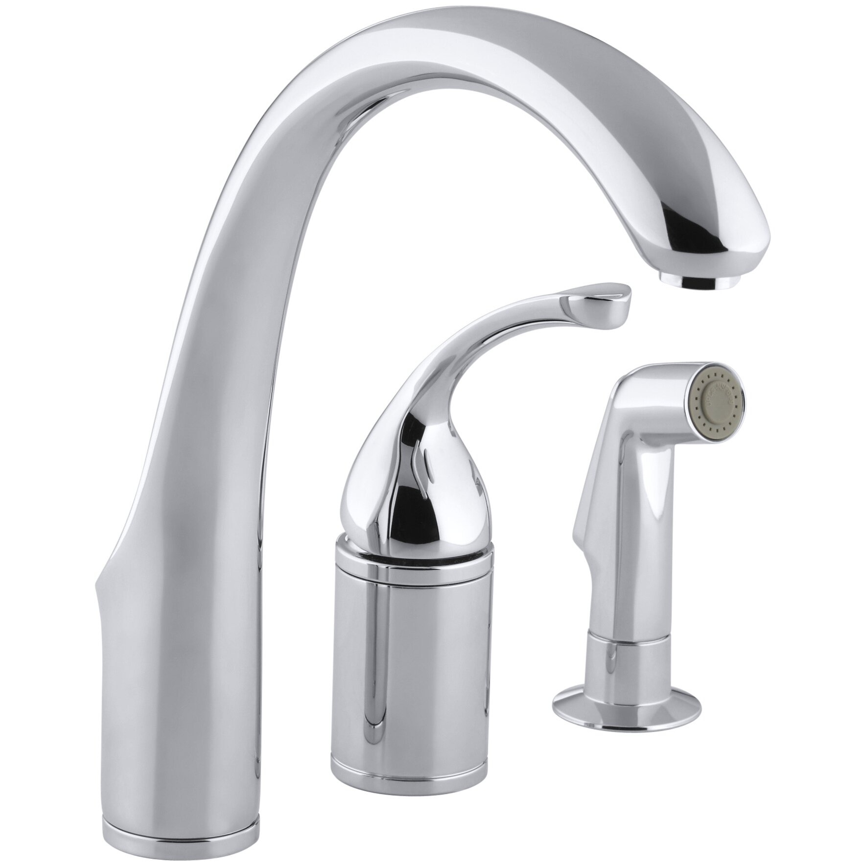 fort 3 hole remote valve kitchen sink faucet with 9 spout with matching finish - Kitchen Sink Sprayer
