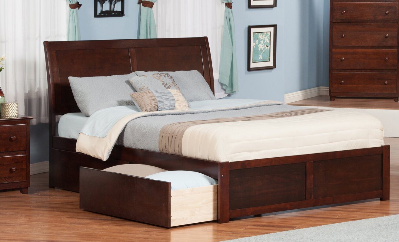 red barrel studio ahoghill king storage platform bed  reviews  - defaultname