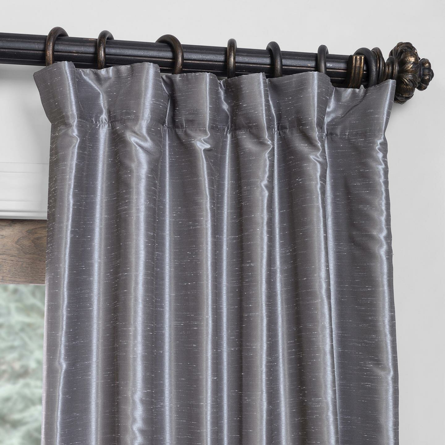Shepshed Solid Blackout Pinch Pleat Single Curtain Panel Reviews Birch Lane