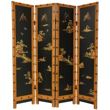 72 x 64 Ching 4 Panel Room Divider by Oriental Furniture