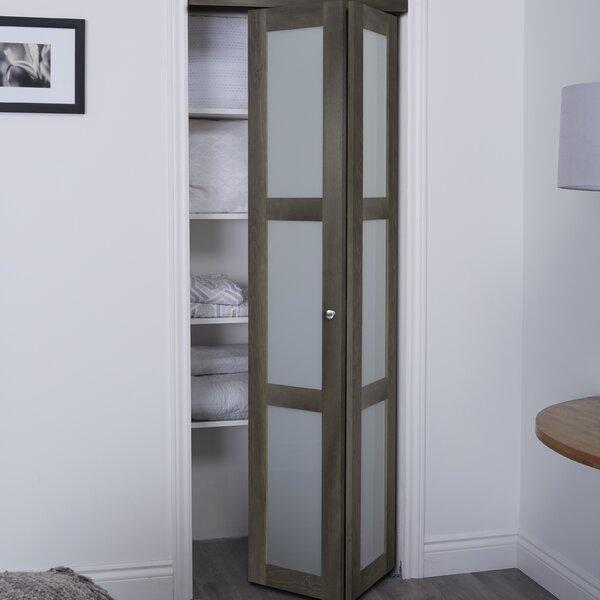 Erias Home Designs Baldarassario 3 Lite 2 Panel Wood Bi Fold Interior Door