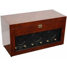 Savoy Triple Winder Watch Box by WOLF