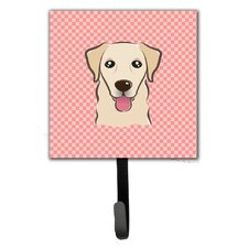 Checkerboard Golden Retriever Leash Holder and Wall Hook by Caroline's Treasures