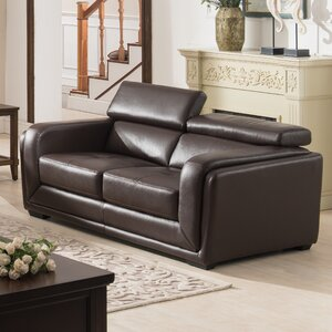 Calvin Leather Loveseat by AC Pacific