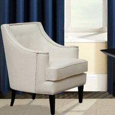 Grace Button Tufted Wing back Chair by Iconic Home