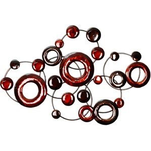 Metal Circle Wall Decor stratton home decor metal wall art you'll love | wayfair