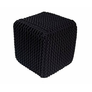 Braided Hand-Knitted Pouffe