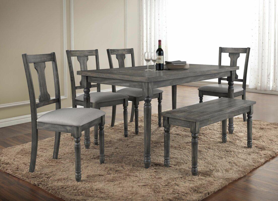Ashley antique white round table set - Parkland 6 Piece Dining Set