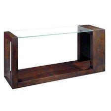Dado Rectangular Glass Top Console Table by Allan Copley Designs