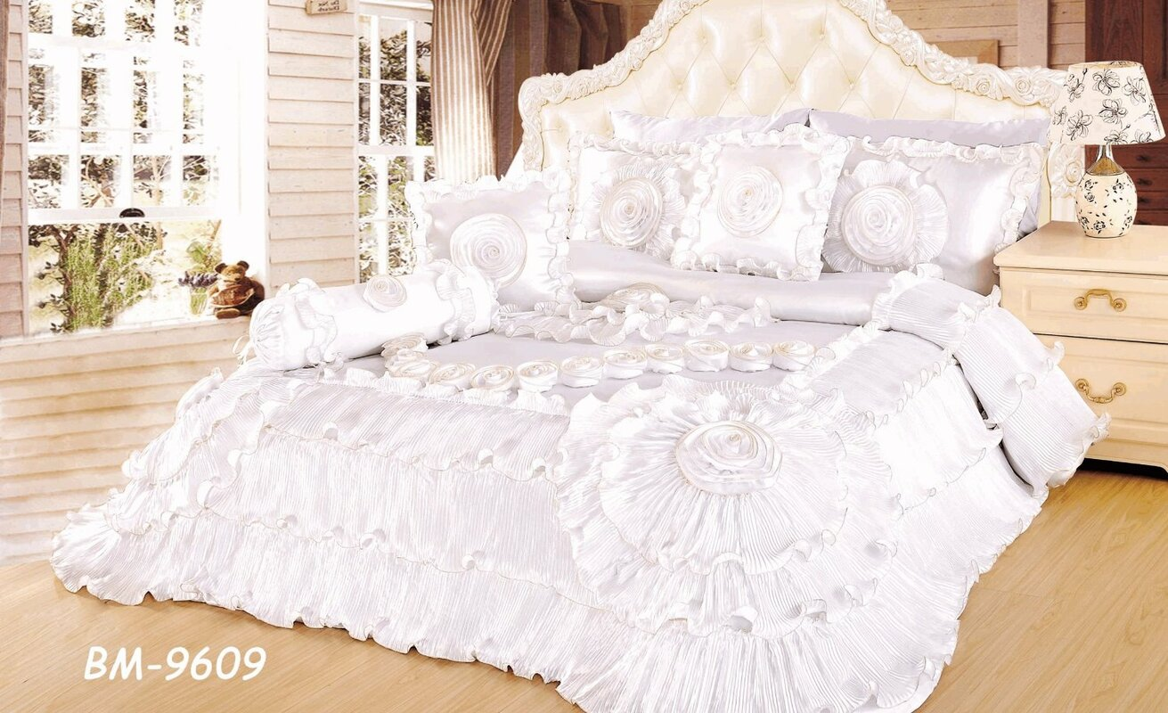 Wedding bed sheet set -  Queen Bedding Sets Sku Tahf1020 Default_name