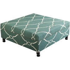 Lennox Flatweave Ottoman by Darby Home Co