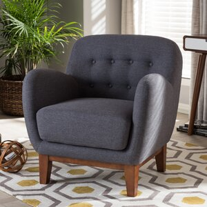 Baxton Studio Susana Upholstered Button Tufted Armchair by Wholesale Interiors