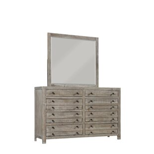 Thorson 8 Drawer Double Dresser with Mirror