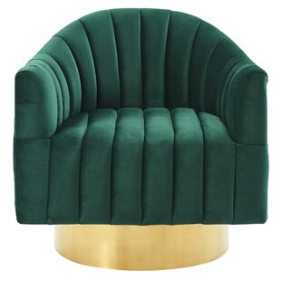 Top Reviews Lachapelle Swivel Armchair By Everly Quinn