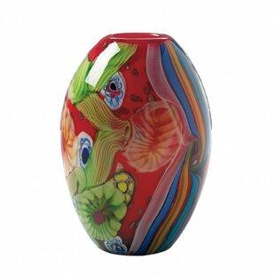 Rutkowski Floral Flow Glass Table Vase