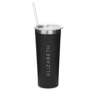 Staggers Personalized Vertical Line 22 oz. Stainless Steel Travel Tumbler