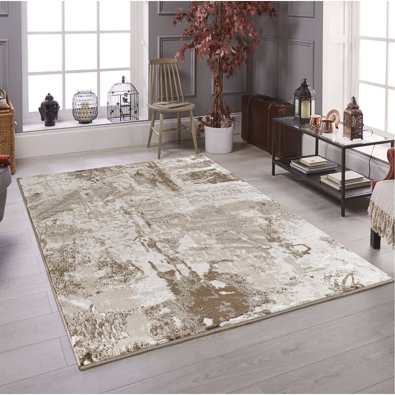 17 Stories Luckey Abstract Brown Area Rug Wayfair