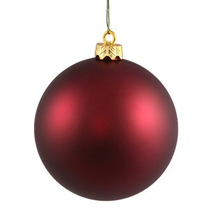 Christmas Ball Ornament with Cap (Set of 4)