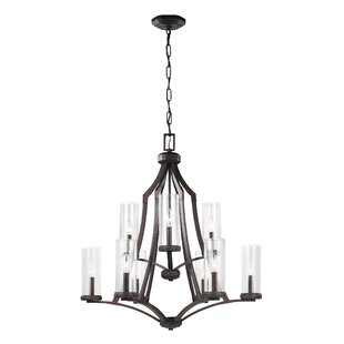 Three Posts Renfroe 9-Light Shaded Chandelier