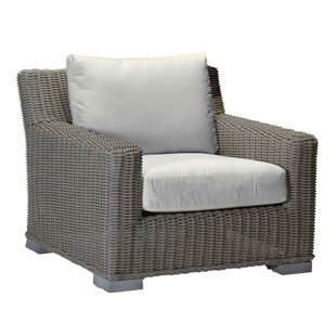 Rustic Patio Chair with Cushions