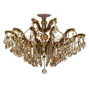 House of Hampton Griffiths 6-Light Semi Flush Mount