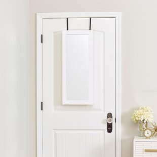 Space Saver Over The Door Jewelry Armoire With Mirror