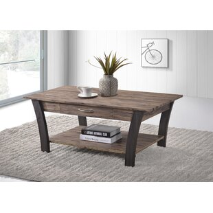 Affordable Chesterle Coffee Table with Drawer By Ebern Designs
