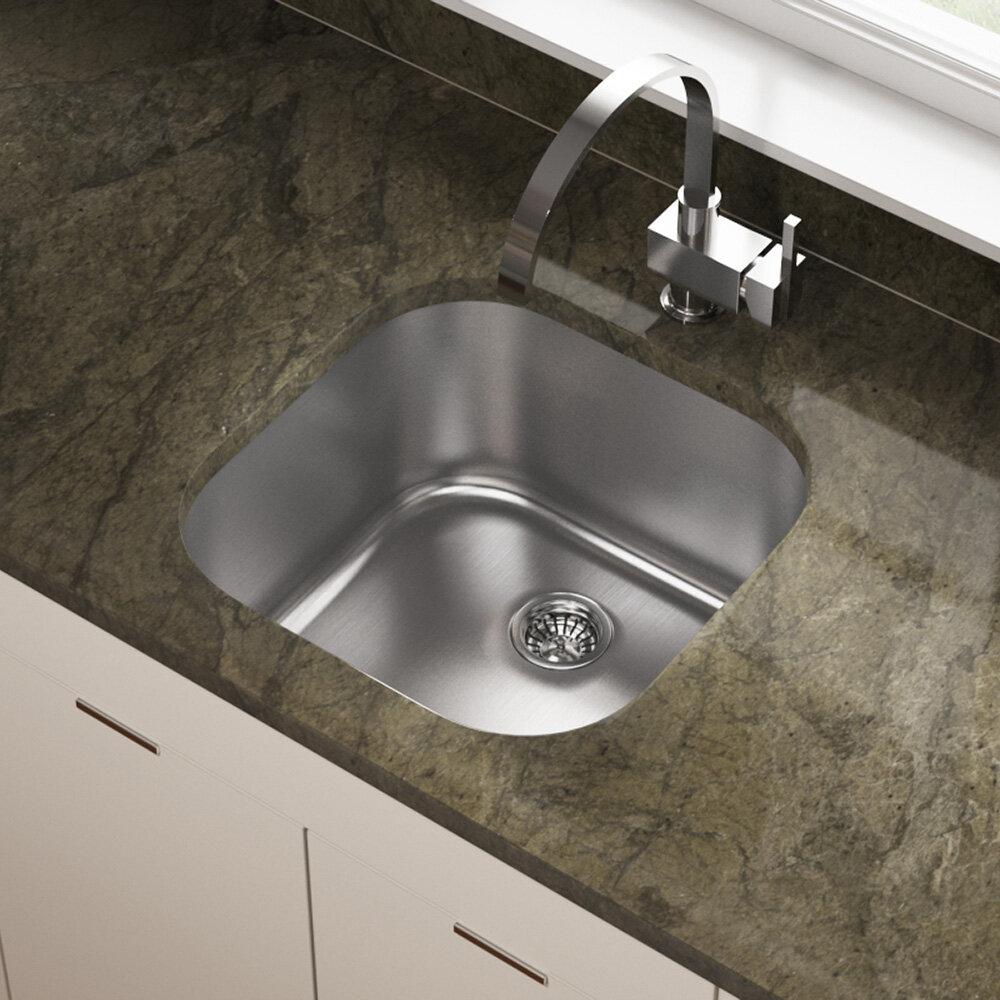 Mrdirect Stainless Steel 20 X 20 Bar Sink Reviews Wayfair