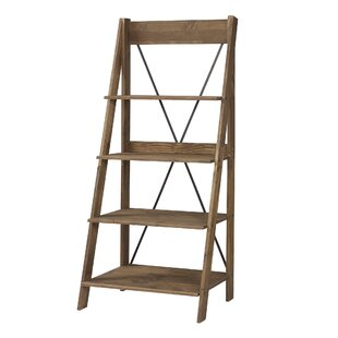 Rowley Solid Wood Ladder Bookcase