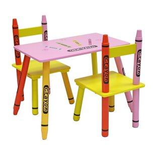 Enjoyable Zoomie Kids Childrens 3 Piece Table And Chair Set Ocoug Best Dining Table And Chair Ideas Images Ocougorg