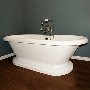 small freestanding soaking tub. 70  x 31 Freestanding Bathtub Small Tub Wayfair