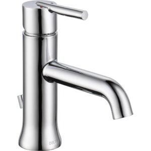 Trinsicu00ae Bathroom Single hole Single Handle Bathroom Faucet with Drain Assembly and Diamond Seal Technology