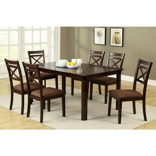 Abby 7 Piece Solid Wood Dining Set