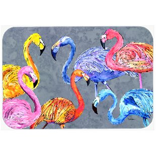 Review Flamingo Six Senses Glass Cutting Board By East Urban Home