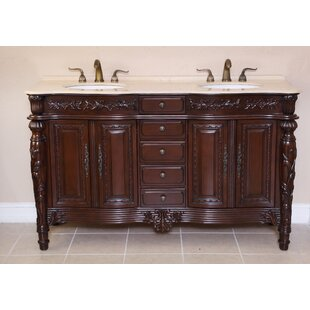 Veronica 61 Double Bathroom Vanity Set by B&I Direct Imports