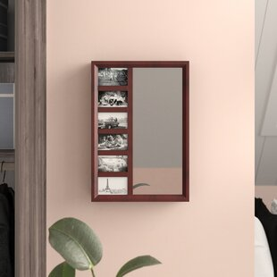 Tessa Wall Mounted Jewelry Armoire with Mirror by Zipcode Design