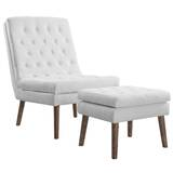 Attleborough Upholstered Lounge Chair and Ottoman by Wrought Studio
