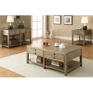 3 Piece Coffee Table Set Loon Peak