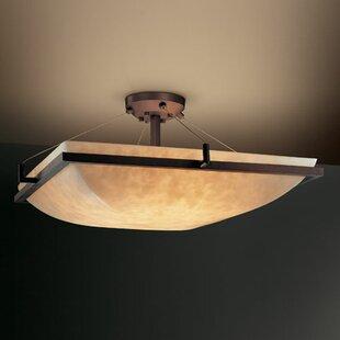 Genaro 3-Light Semi Flush Mount by Brayden Studio