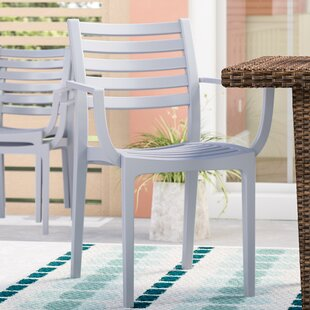 Melissus Stacking Patio Dining Chair (Set Of 4) by Mercury Row Today Only Sale