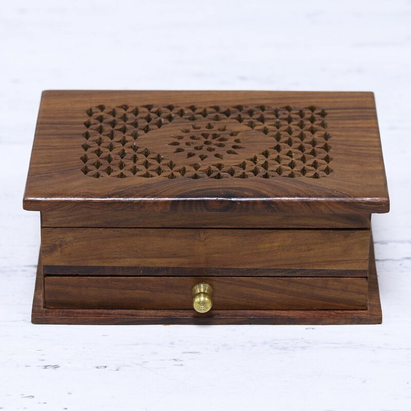 Floral Dignity Wood Jewellery Box