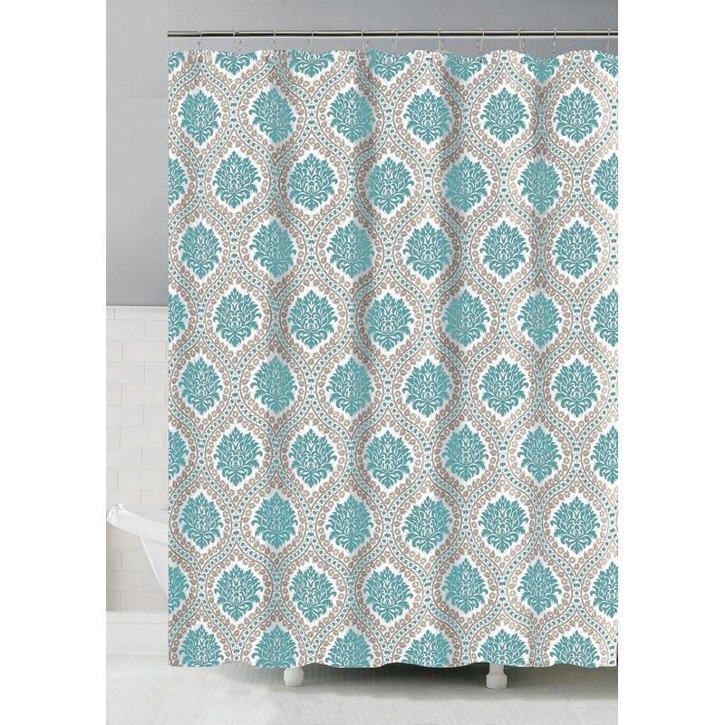 Charlton Home Lisanti 13 Piece Shower Curtain Set Hooks Wayfair