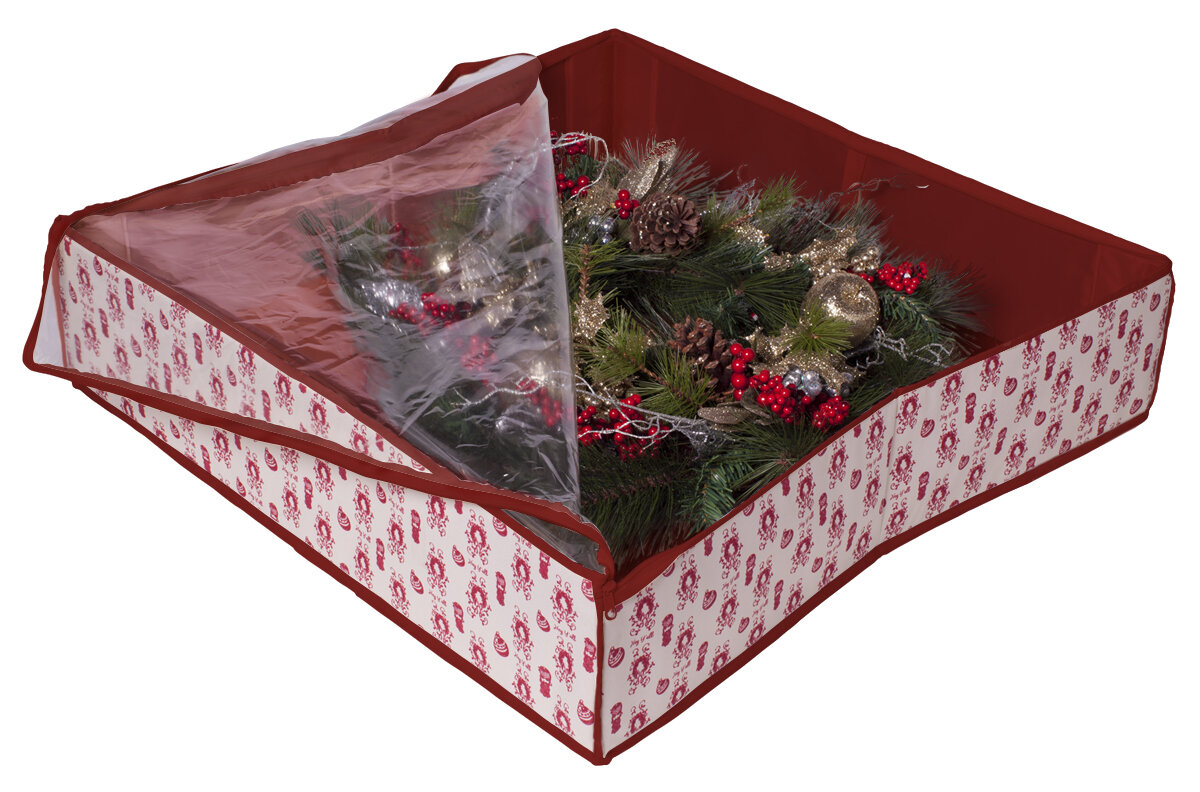 holiday wreath storage box joss main