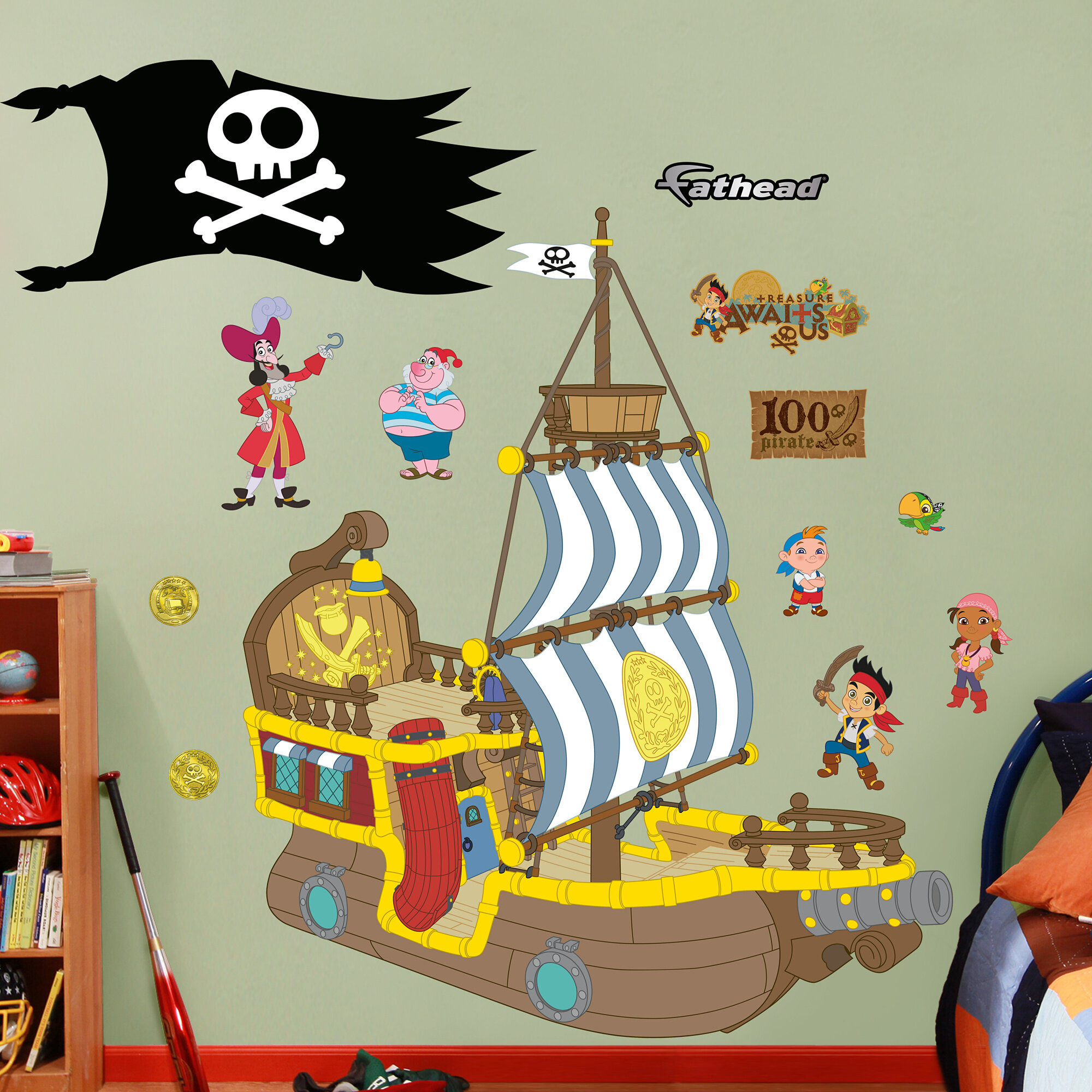 Fathead Disney Jake And The Neverland Pirates Wall Decal Wayfair