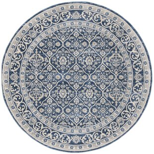 Lamartine Navy/Light Gray Area Rug by Ophelia & Co.