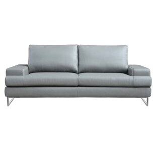 Angeline Leather Loveseat by Wade Logan