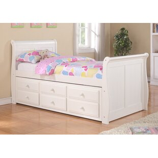 Stoudt Sleigh Bed With Trundle And Storage by Harriet Bee Purchase